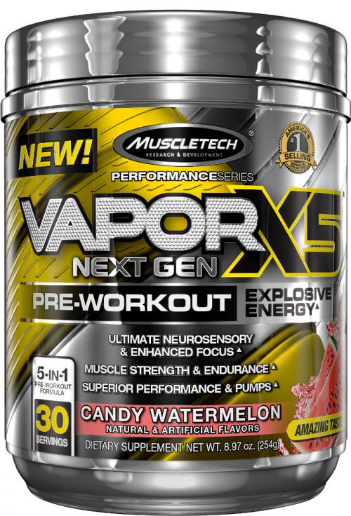 MuscleTech Vapor X5 Next Gen - 30 Servings Candy Watermelon
