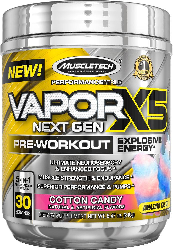MuscleTech Vapor X5 Next Gen - 30 Servings Cotton Candy