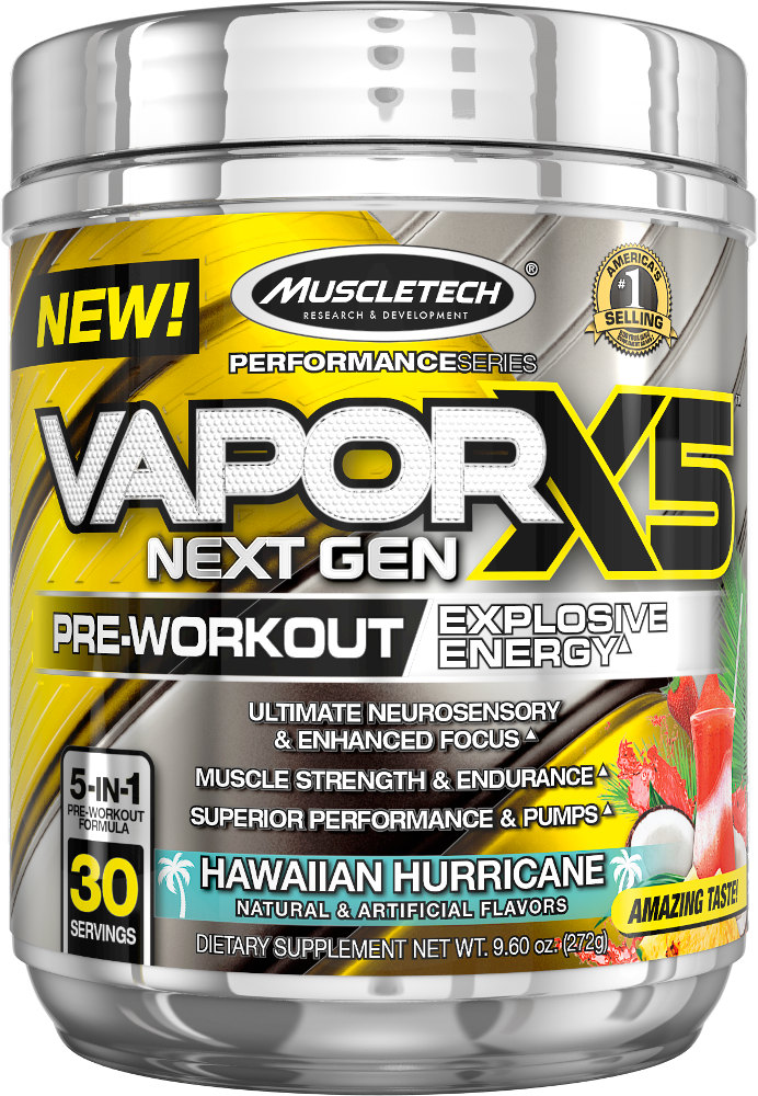 MuscleTech Vapor X5 Next Gen - 30 Servings Hawaiian Hurricane