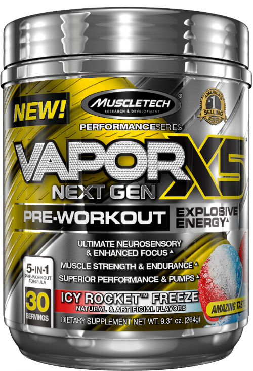 MuscleTech Vapor X5 Next Gen - 30 Servings Icy Rocket Freeze