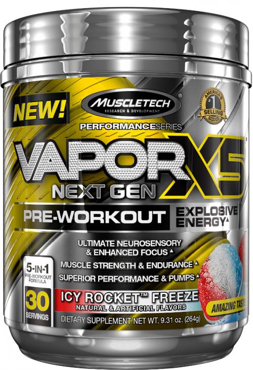 MuscleTech Vapor X5 Next Gen - 30 Servings Icy Rocket Freeze