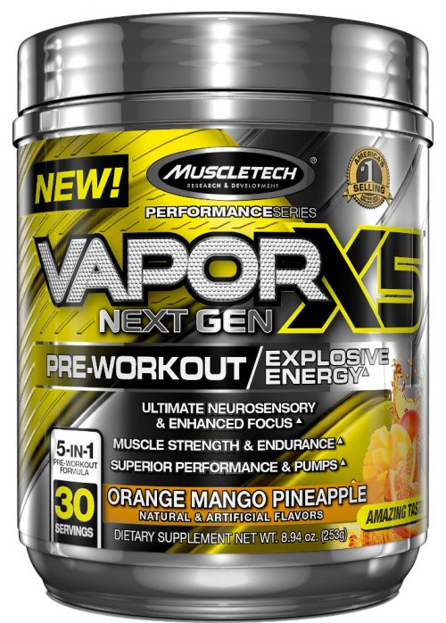 MuscleTech Vapor X5 Next Gen - 30 Servings Orange Mango Pineapple