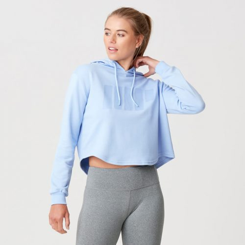 Myprotein Cropped Logo Hoodie - Pale Blue - S