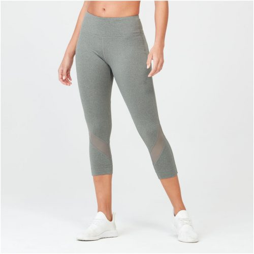 Myprotein Heartbeat Cropped Mesh Leggings - Grey - XL