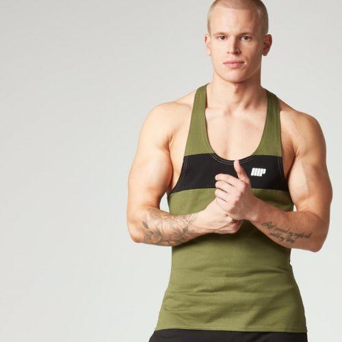 Myprotein Men's Core Stripe Stringer Vest - Khaki, XXL