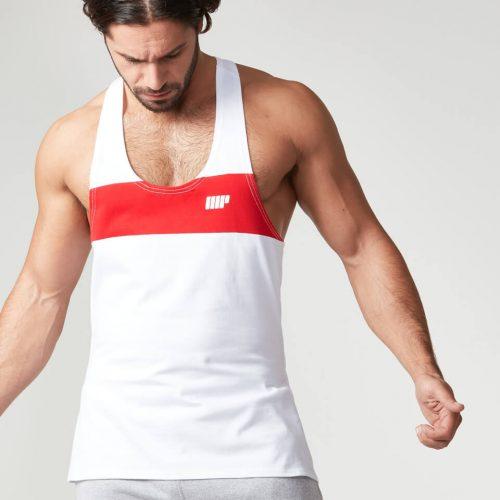 Myprotein Men's Core Stripe Stringer Vest - Red, XXL