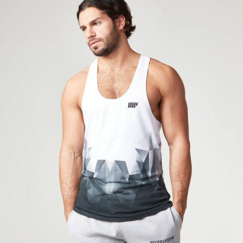 Myprotein Men's Digital Geo Print Stringer Vest - Black, XXL