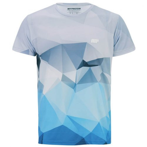 Myprotein Men's Geometric Printed Training Shirt - Light Blue, XXL