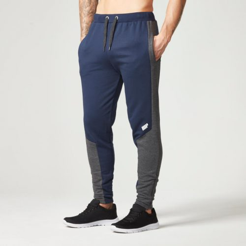 Myprotein Men's Panelled Slimfit Sweatpants with Zip - Navy - XXL