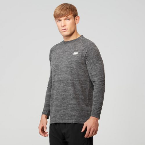 Myprotein Men's Performance Long Sleeve Top, Black, XL