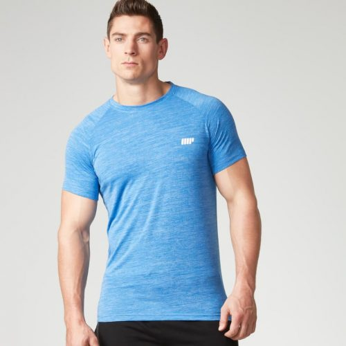 Myprotein Men's Performance Short Sleeve Top - Blue Marl - S