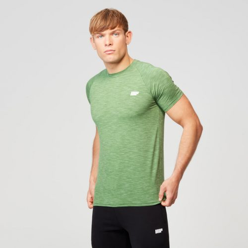 Myprotein Men's Performance Short Sleeve Top - Green Marl - S