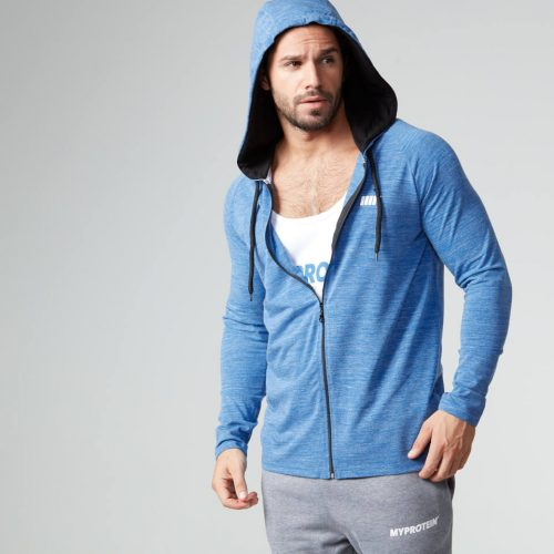 Myprotein Men's Performance Zip Hoodie - Blue Marl - XXL