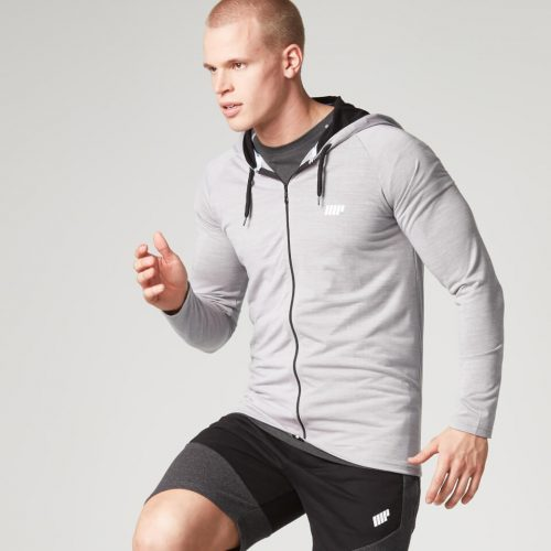 Myprotein Men's Performance Zip Hoodie - Grey Marl - XXL