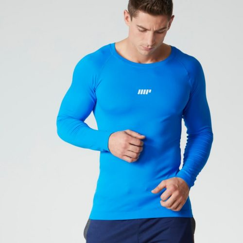 Myprotein Men's Seamless Long Sleeve Performance Top - Blue - XL