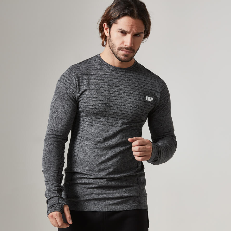 Myprotein Men's Seamless Long Sleeve T-Shirt - Black, M