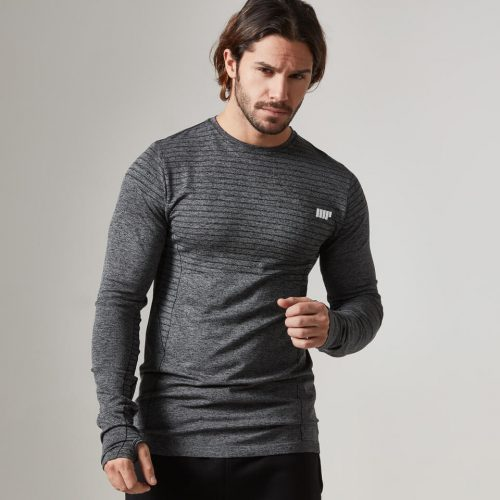 Myprotein Men's Seamless Long Sleeve T-Shirt - Black, XL