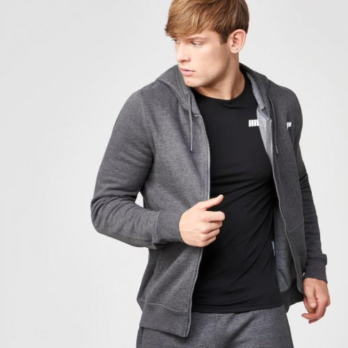 Myprotein Men's Tru-Fit Full Zip Hoodie - Charcoal - XXL