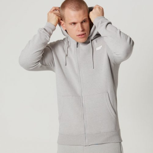 Myprotein Men's Tru-Fit Full Zip Hoodie - Light Grey Marl - XXL