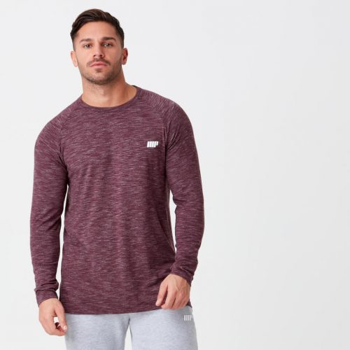 Myprotein Performance Long Sleeve Top - Burgundy Marl - XL