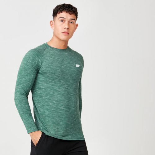 Myprotein Performance Long Sleeve Top - Dark Green Marl - XS