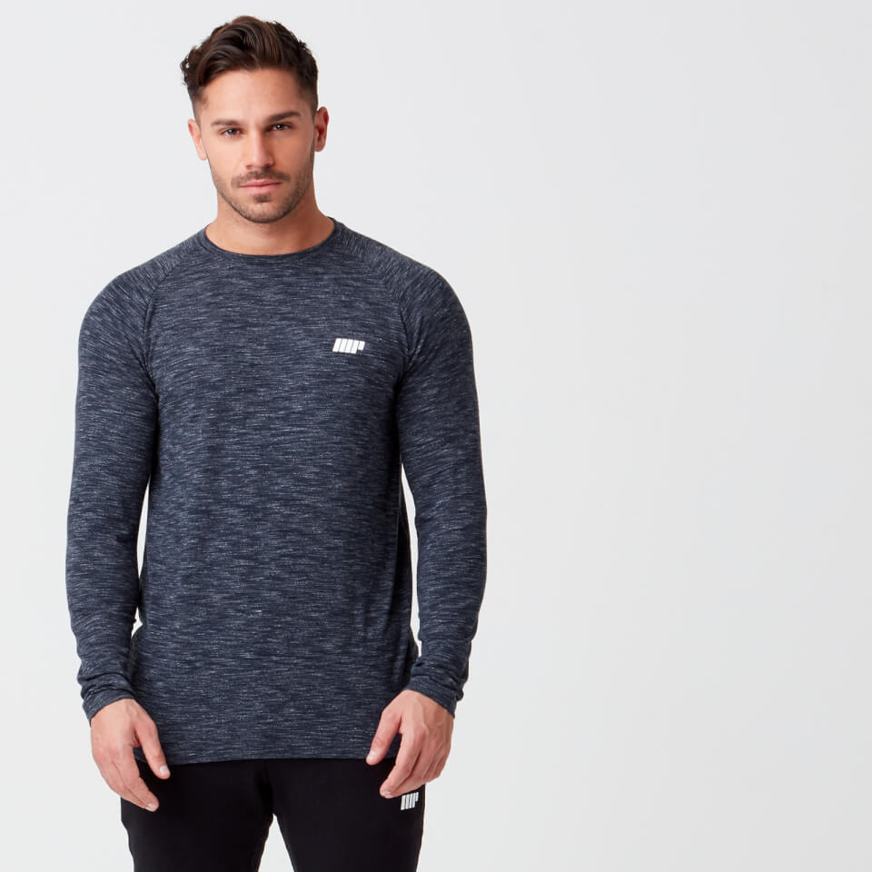 Myprotein Performance Long Sleeve Top - Navy Marl - XXL