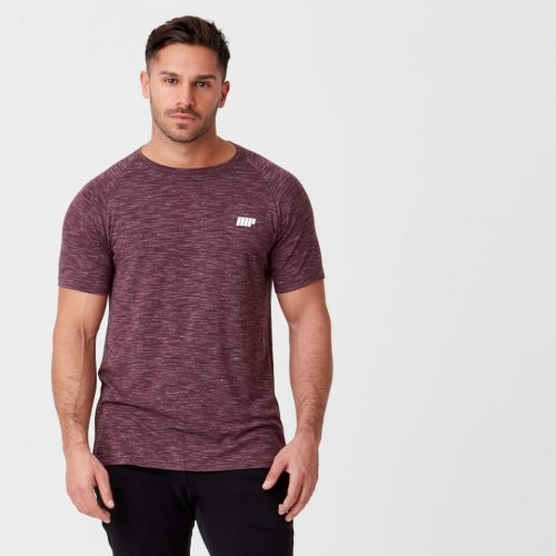 Myprotein Performance Short Sleeve Top - Burgundy Marl - XS