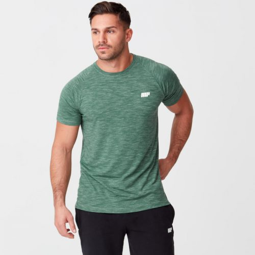 Myprotein Performance Short Sleeve Top - Dark Green Marl - XS