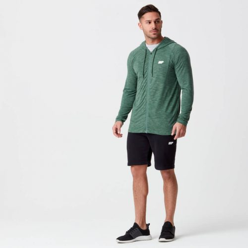 Myprotein Performance Zip Top - Dark Green Marl - S