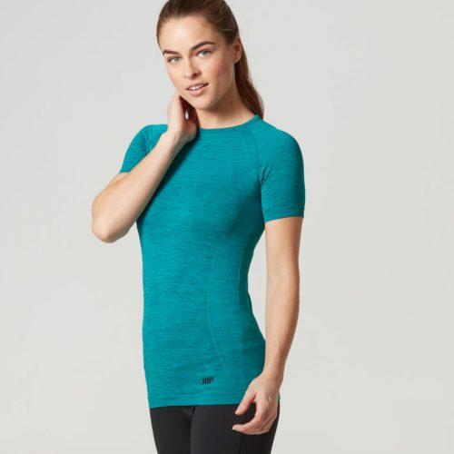 Myprotein Women's Seamless Short Sleeve T-Shirt - Teal, XL