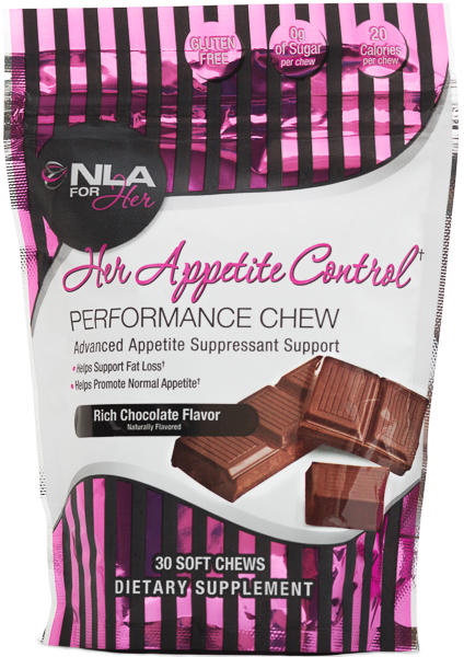 NLA For Her Her Appetite Control Chew - 30 Chews Rich Chocolate