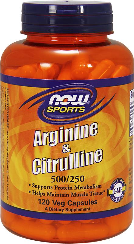 NOW Foods Arginine & Citrulline 500/250 - 120 Capsules