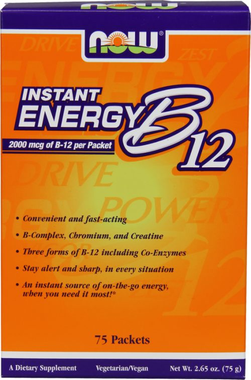 NOW Foods B-12 Instant Energy - 75 Packets