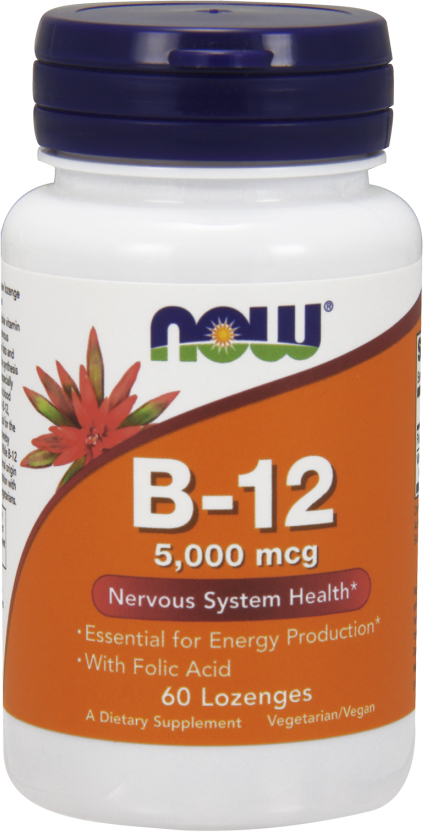 NOW Foods B-12 with Folic Acid - 60 Lozenges