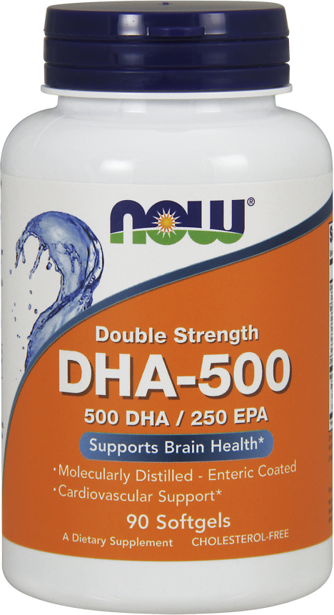 NOW Foods DHA-500 - 90 Softgels