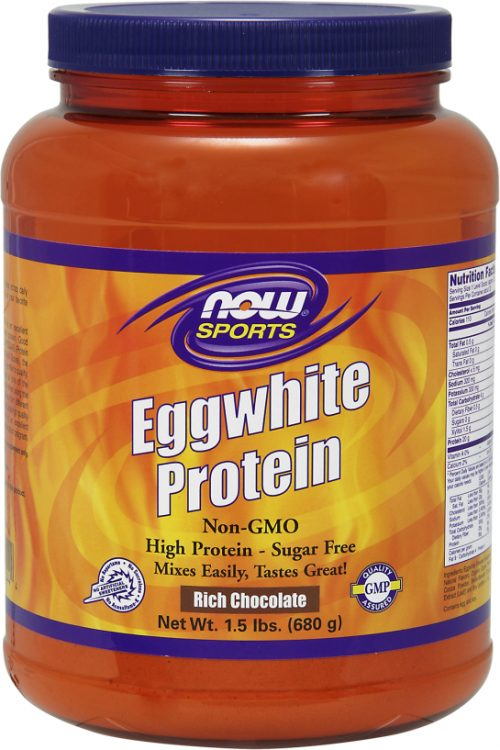 NOW Foods Eggwhite Protein - 1.5lbs Rich Chocolate