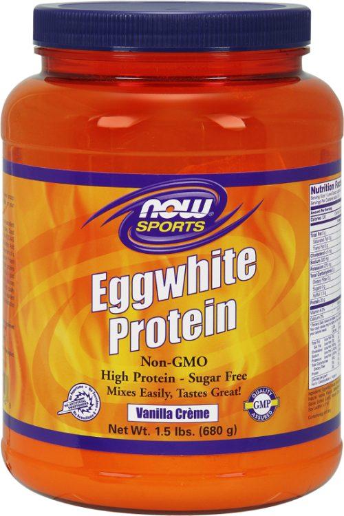 NOW Foods Eggwhite Protein - 1.5lbs Vanilla Creme