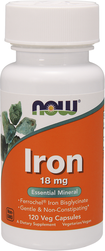 NOW Foods Iron - 120 VCapsules