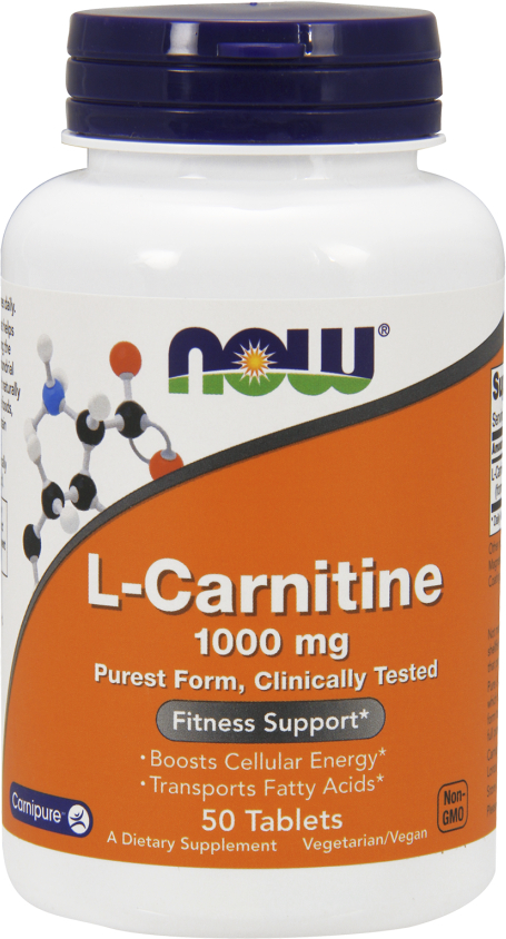 NOW Foods L-Carnitine 1,000mg - 1,000mg/50 Tablets