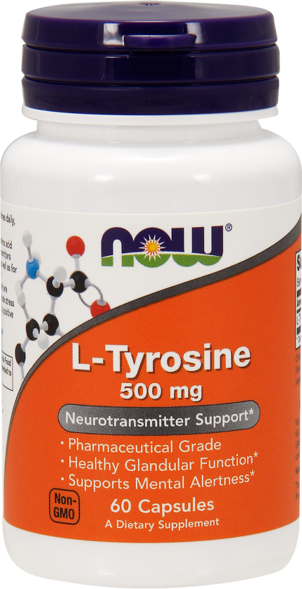 NOW Foods L-Tyrosine - 60 Capsules