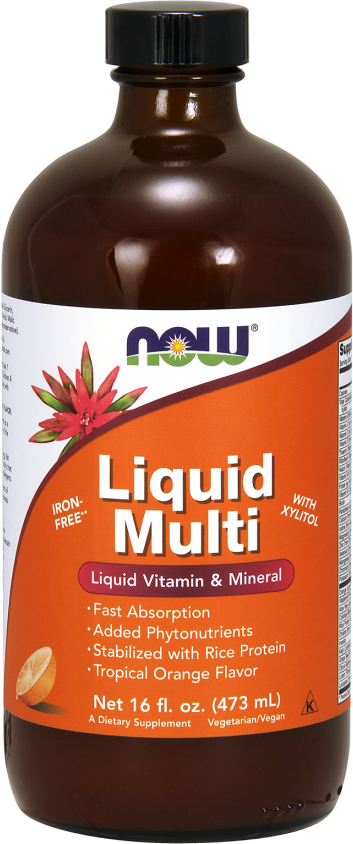 NOW Foods Liquid Multi - 16 Fl. Oz. Tropical Orange