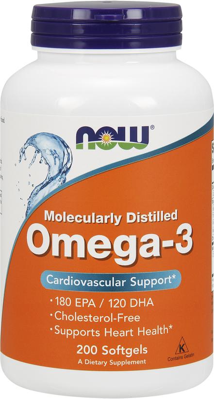 NOW Foods Omega-3 - 200 Softgels