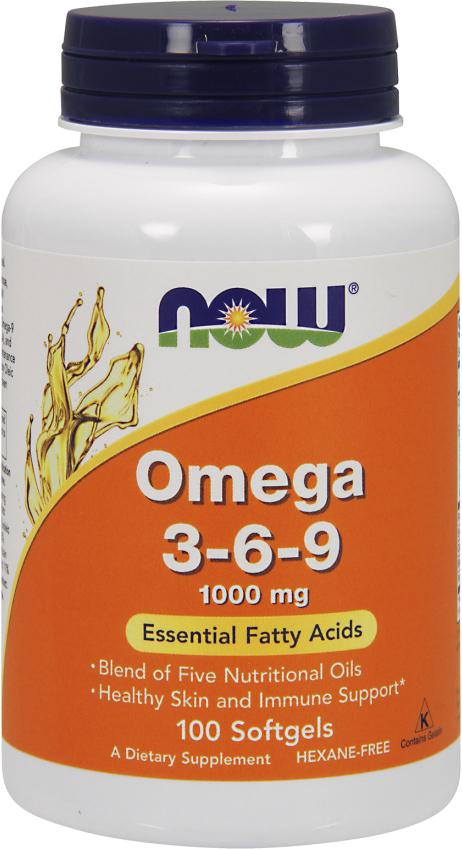 NOW Foods Omega 3-6-9 - 100 Softgels