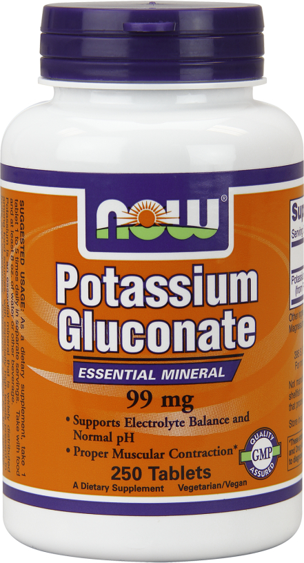 NOW Foods Potassium Gluconate - 250 Tablets