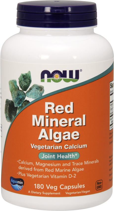 NOW Foods Red Mineral Algae - 180 VCapsules