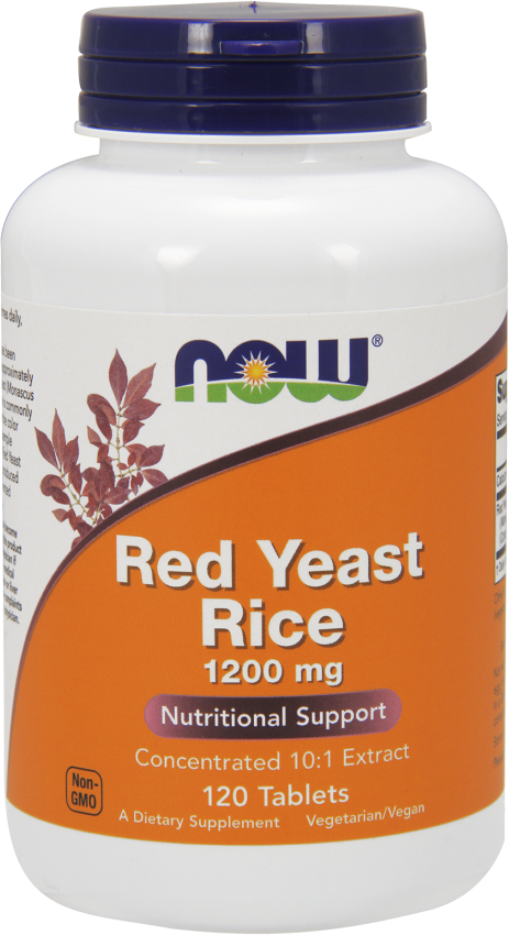 NOW Foods Red Yeast Rice - 1200mg/120 Tablets