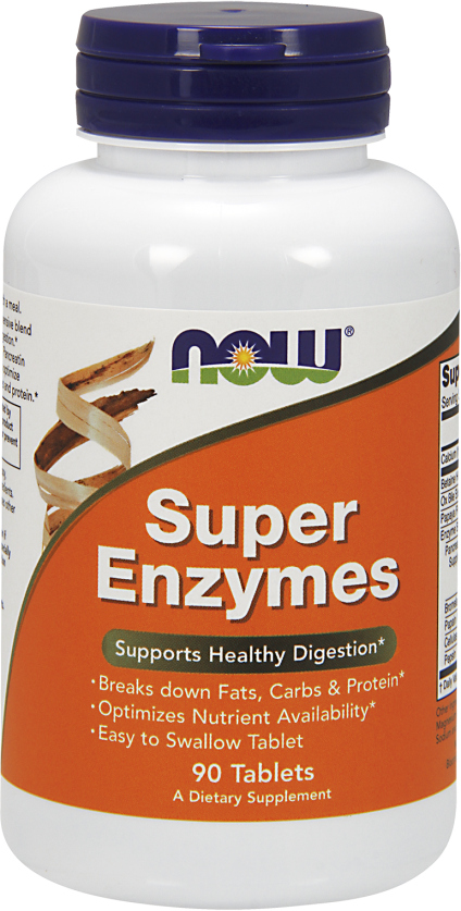 NOW Foods Super Enzymes - 90 Tablets