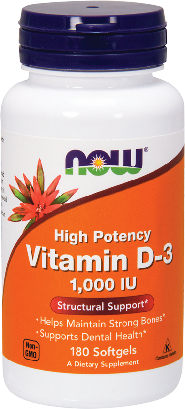 NOW Foods Vitamin D-3 - 180 Softgels