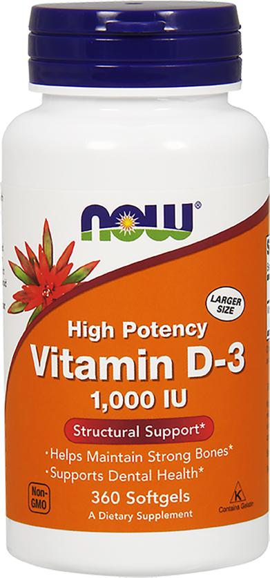 NOW Foods Vitamin D-3 - 360 Softgels