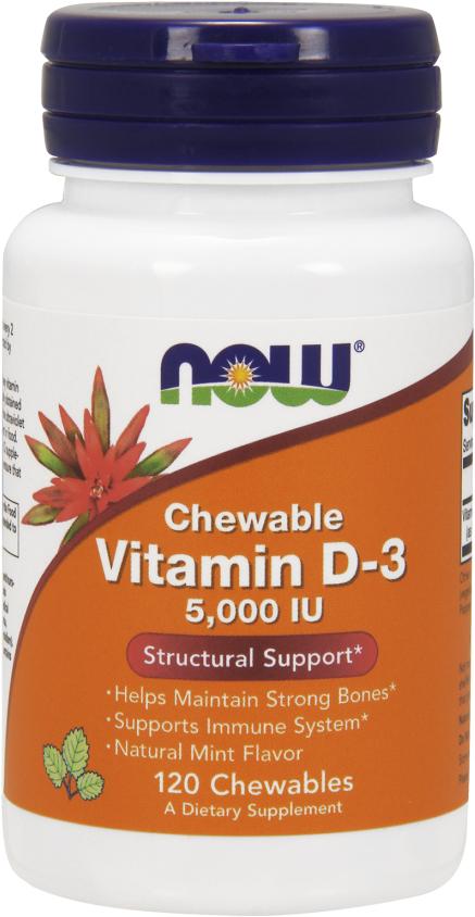 NOW Foods Vitamin D-3 - 5,000IU 120 Softgels